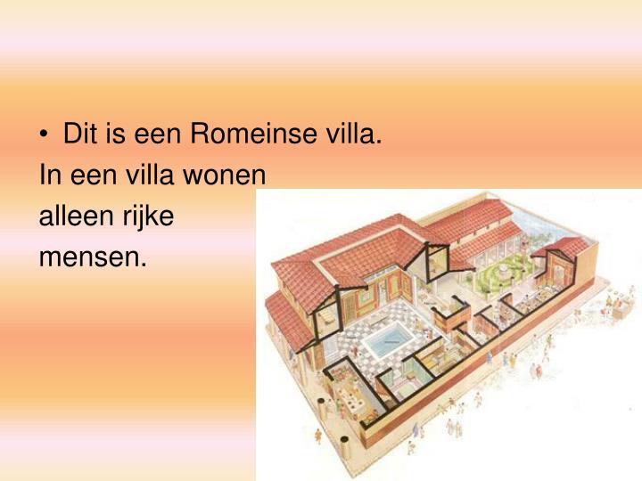 Dit is een Romeinse villa.