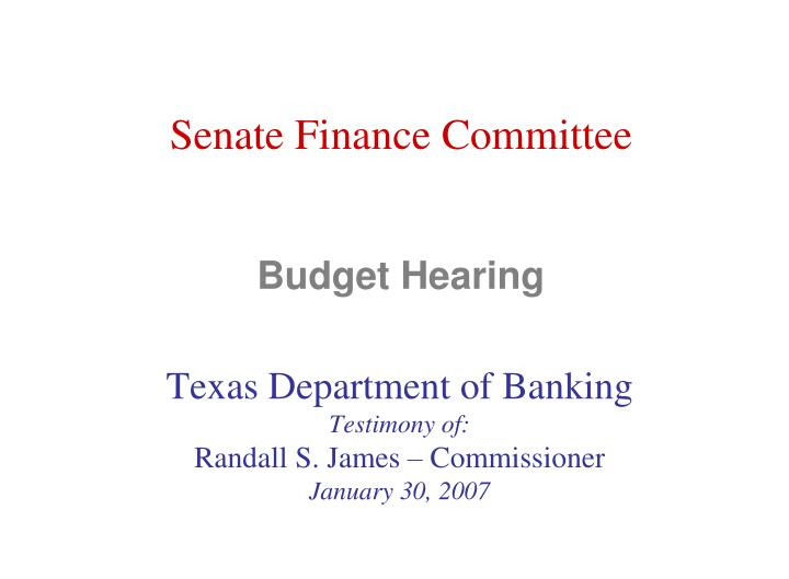 Senate Finance Committee