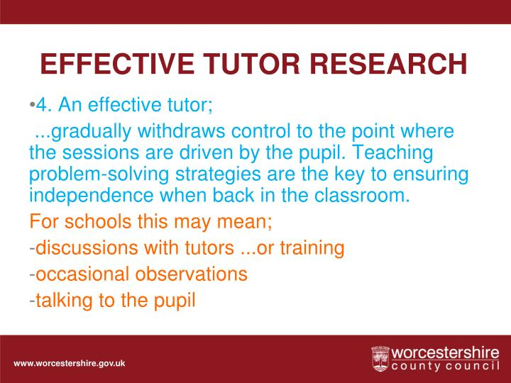 EFFECTIVE TUTOR RESEARCH