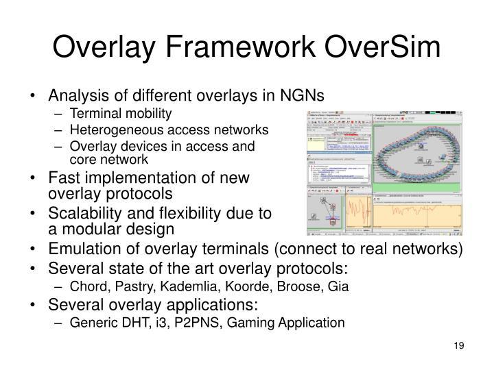 Overlay Framework OverSim