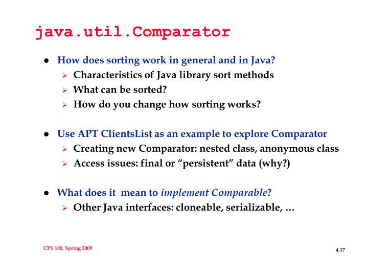 java.util.Comparator