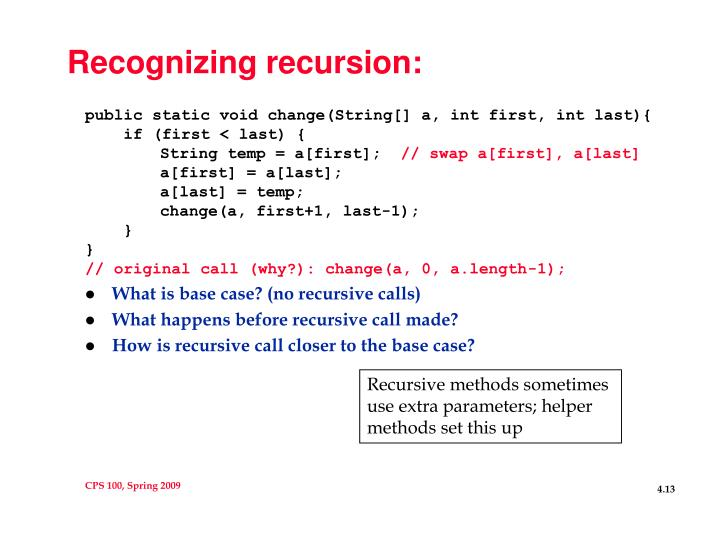 Recognizing recursion: