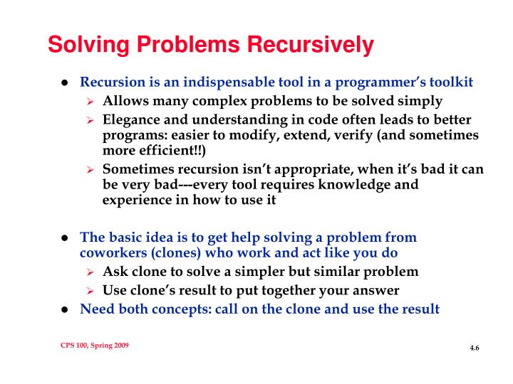 Solving Problems Recursively