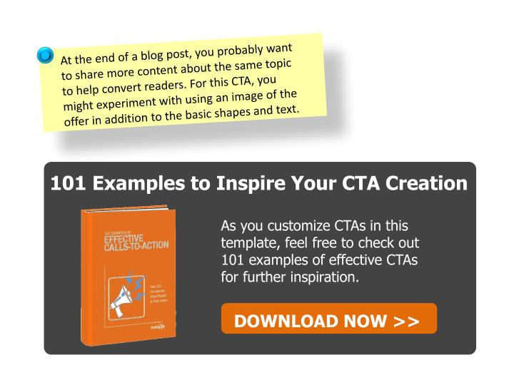 101 Examples to Inspire Your CTA Creation