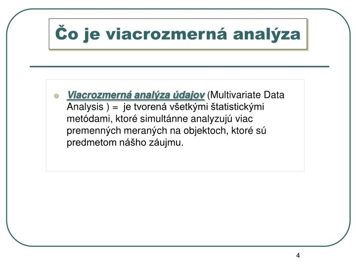Čo je viacrozmerná analýza