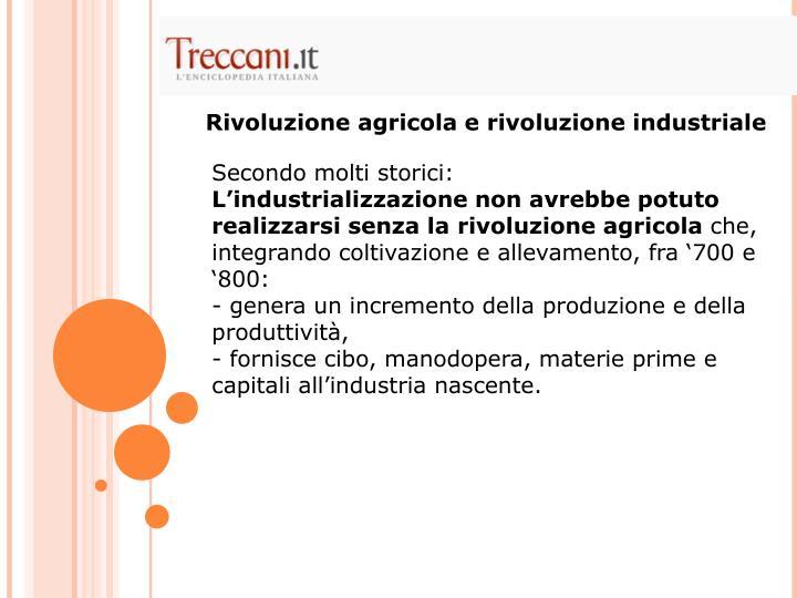 Rivoluzione agricola e rivoluzione industriale