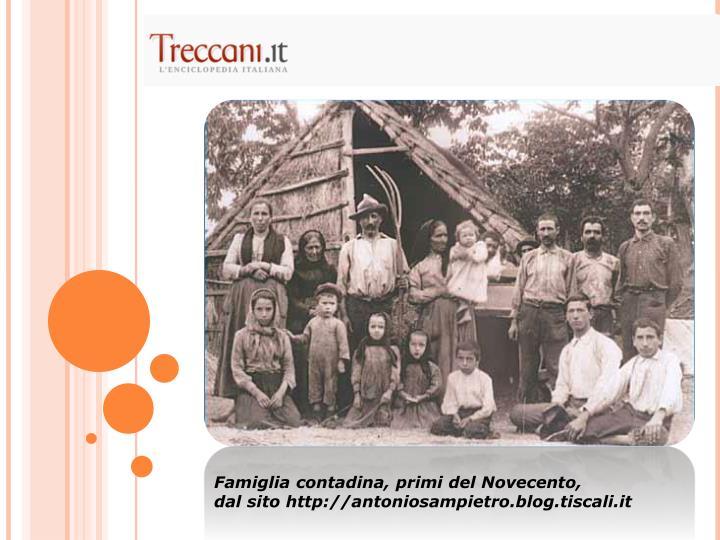 Famiglia contadina, primi del Novecento,