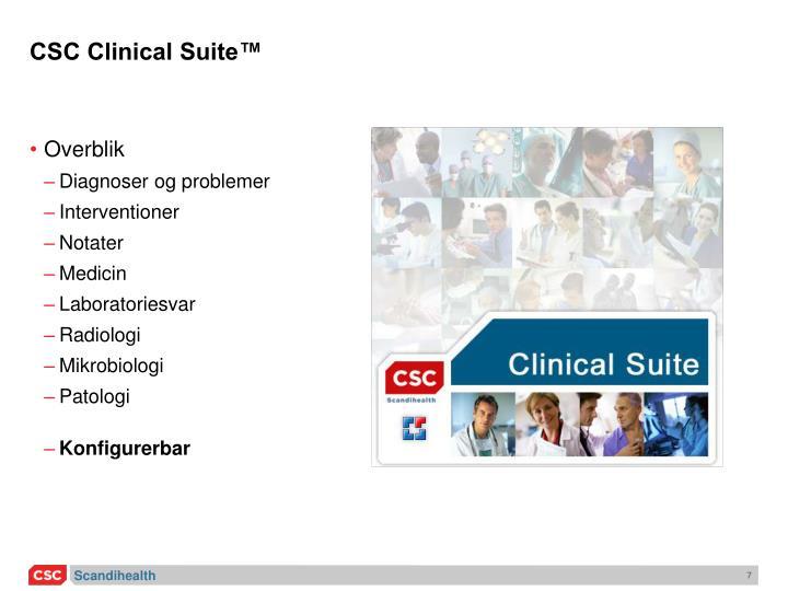CSC Clinical Suite™