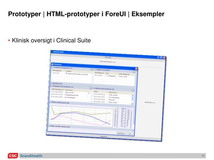 Prototyper | HTML-prototyper i ForeUI | Eksempler