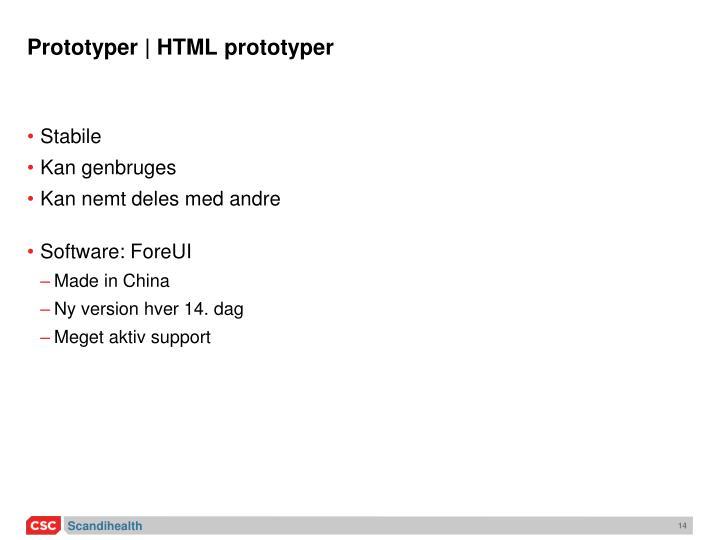 Prototyper | HTML prototyper