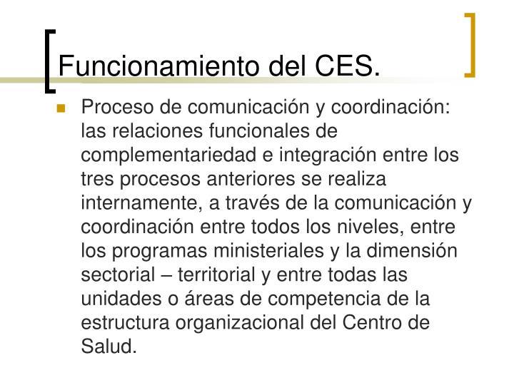 Funcionamiento del CES.