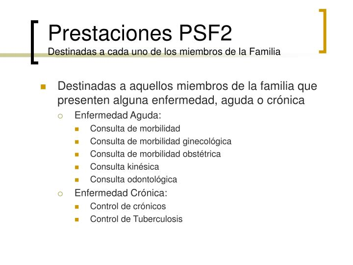 Prestaciones PSF2