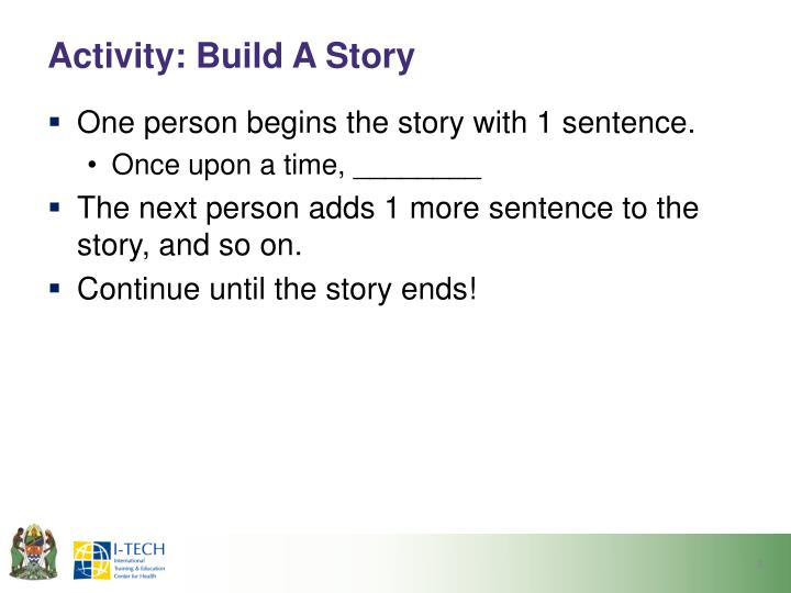 Activity build a story