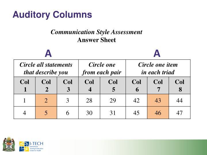 Auditory Columns