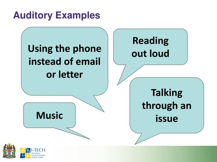 Auditory Examples