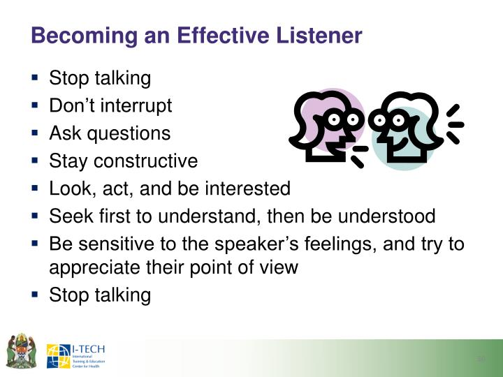 Becoming an Effective Listener