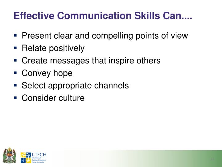 Effective Communication Skills Can....