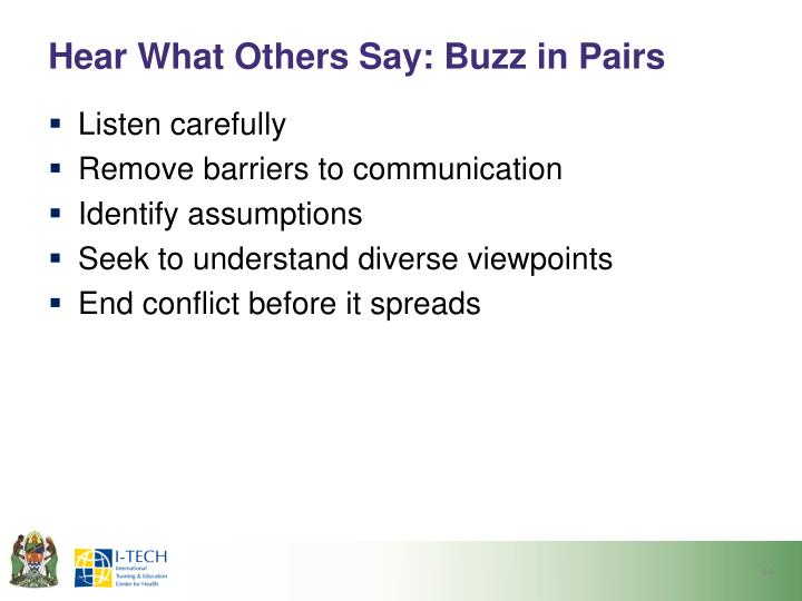 Hear What Others Say: Buzz in Pairs
