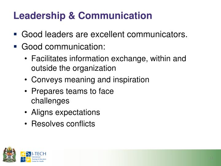 Leadership & Communication