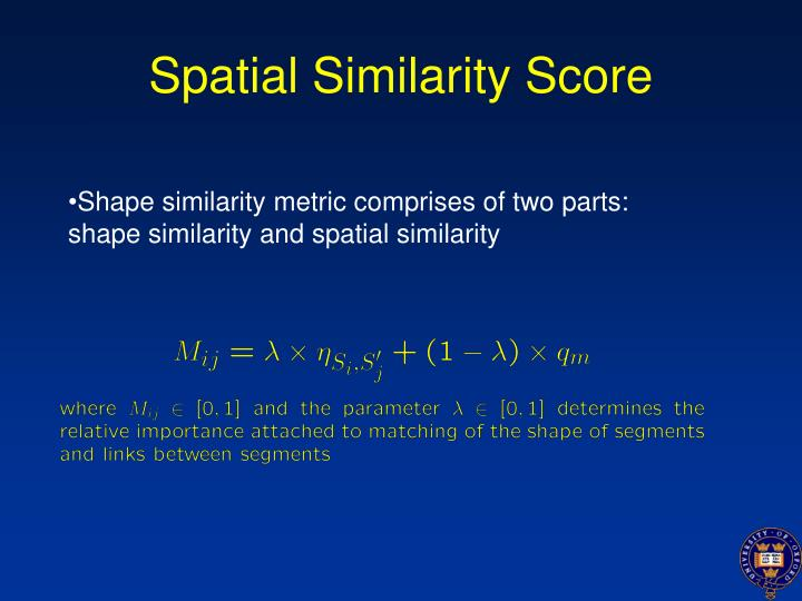 Spatial Similarity Score