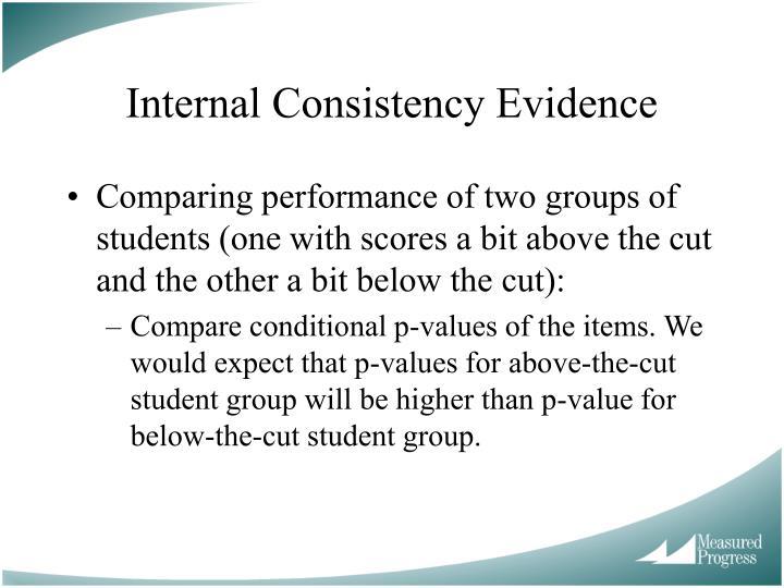 Internal Consistency Evidence