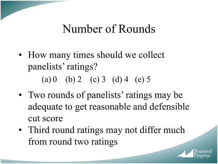 Number of Rounds