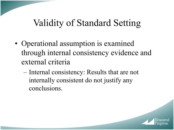 Validity of Standard Setting
