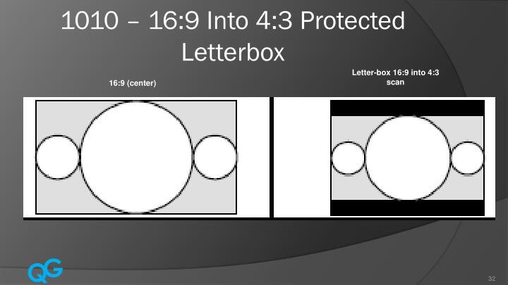 1010 – 16:9 Into 4:3 Protected Letterbox