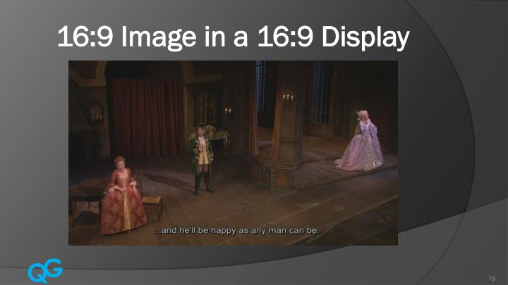 16:9 Image in a 16:9 Display