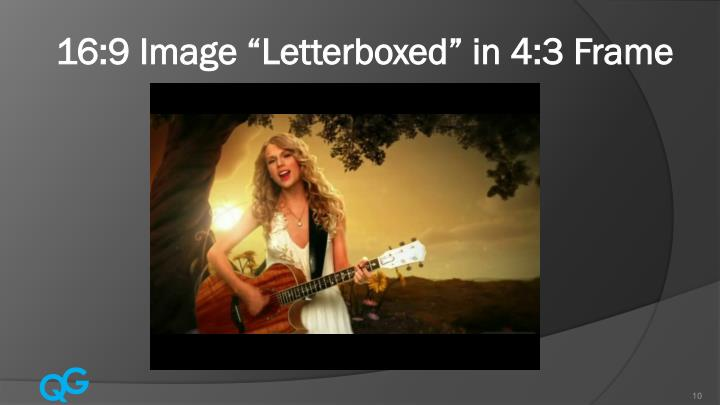"16:9 Image ""Letterboxed"" in 4:3 Frame"