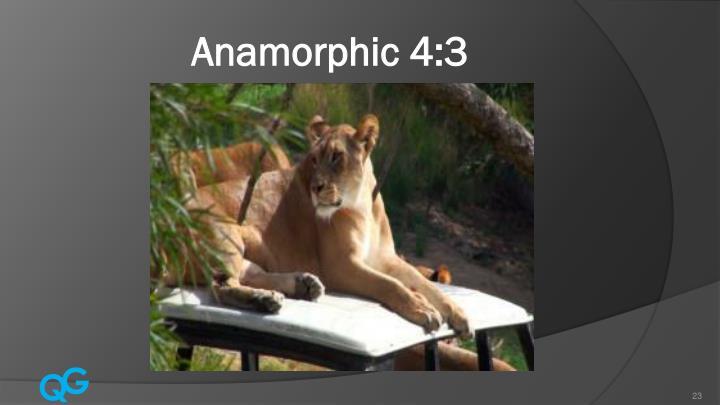 Anamorphic 4:3
