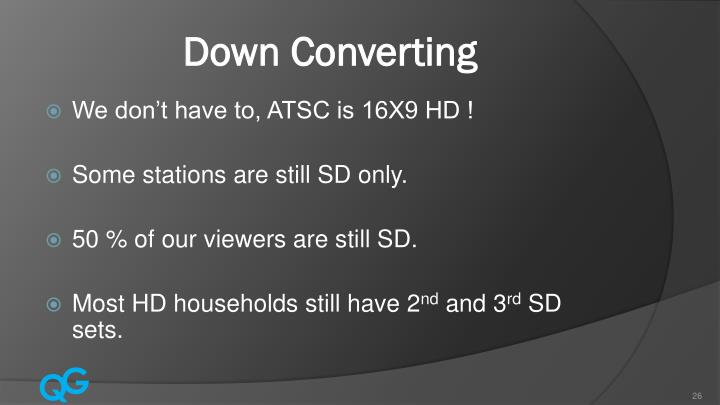 Down Converting