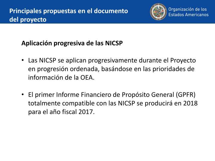 Principales propuestas en el documento