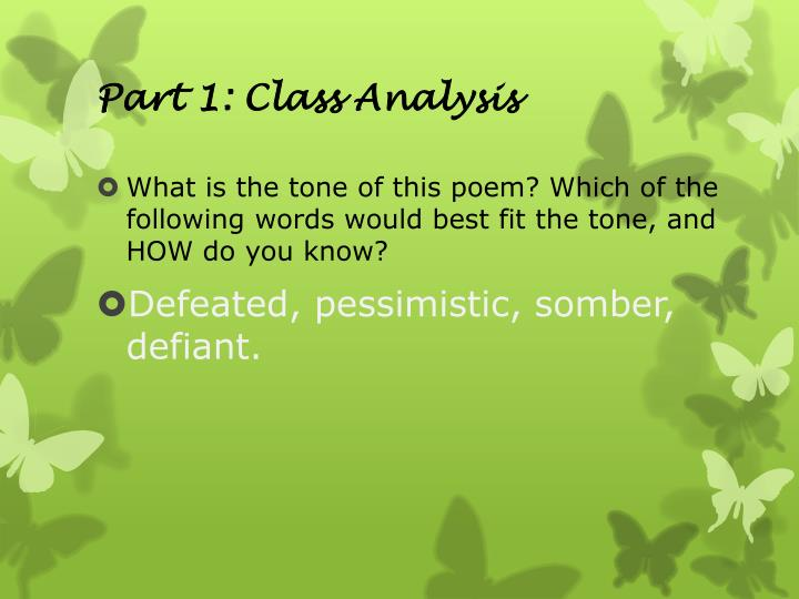 Part 1: Class Analysis