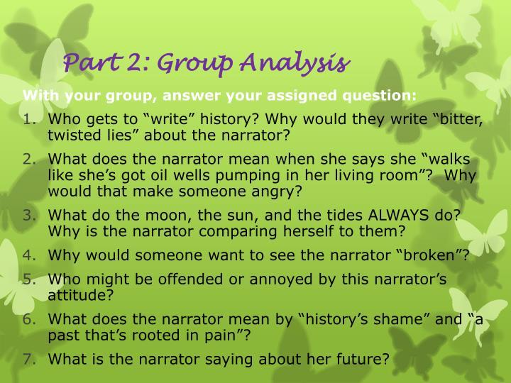 Part 2: Group Analysis
