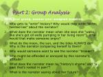 part 2 group analysis