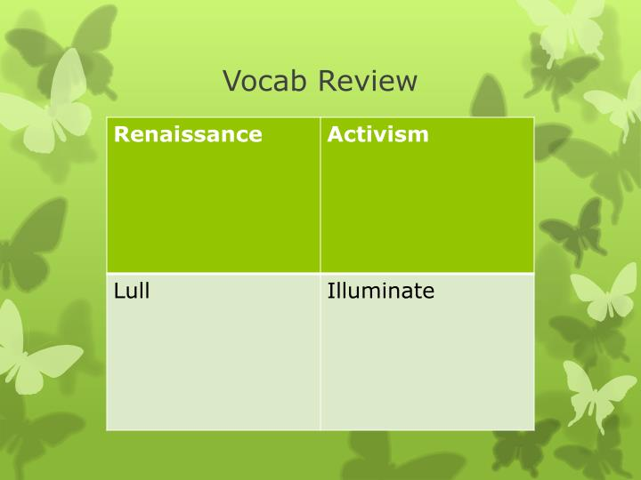 Vocab Review