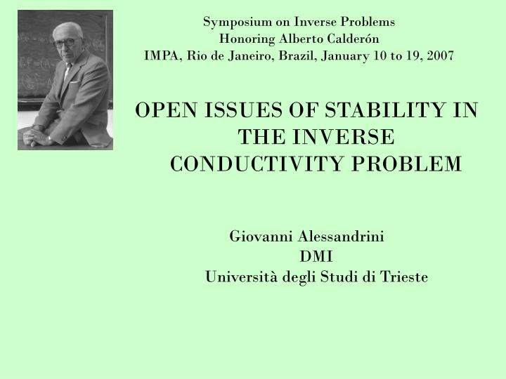 Symposium on Inverse Problems