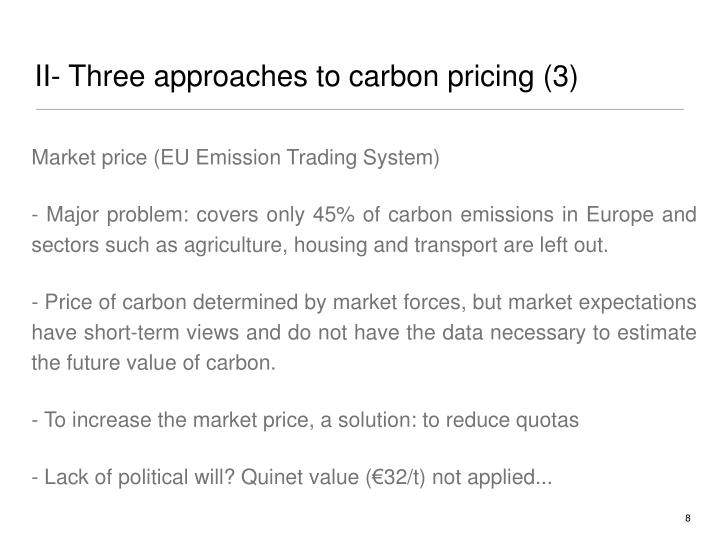 II- Three approaches to carbon pricing (3)