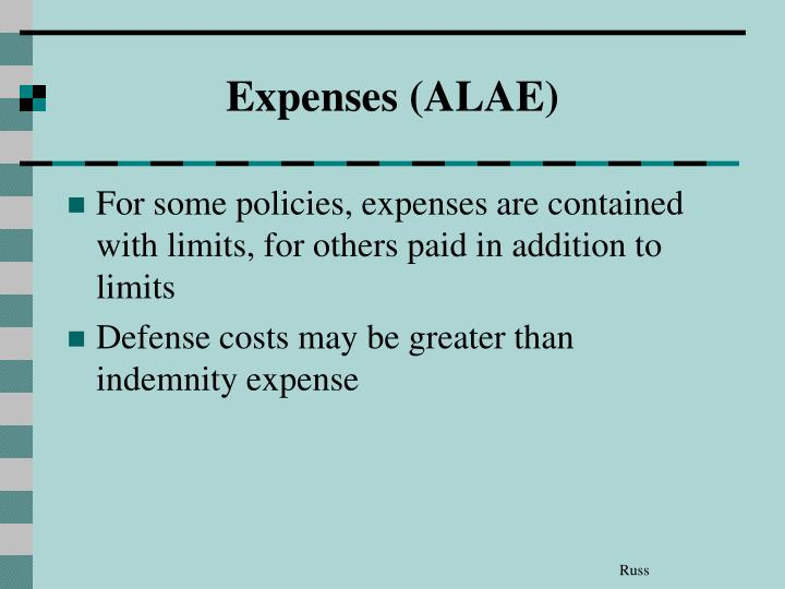 Expenses (ALAE)