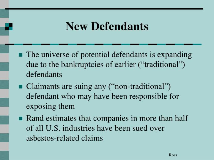 New Defendants