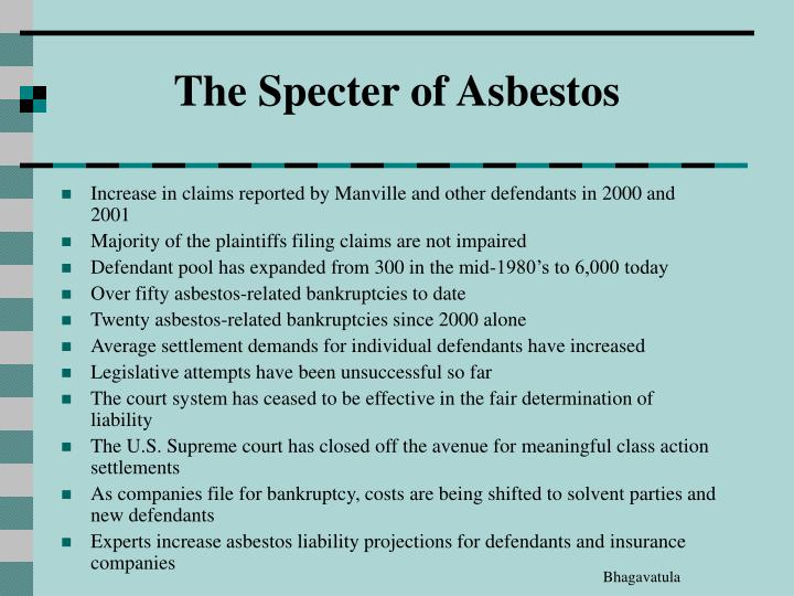 The Specter of Asbestos