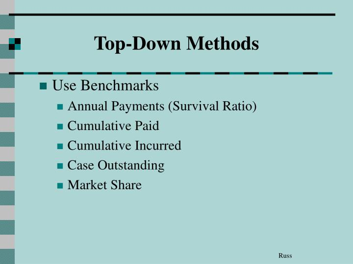 Top-Down Methods