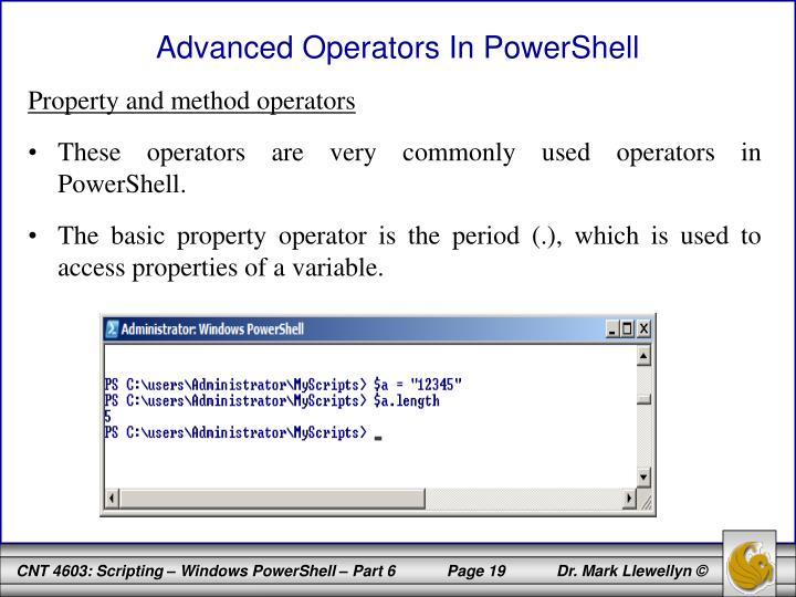 Advanced Operators In PowerShell