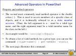 advanced operators in powershell6