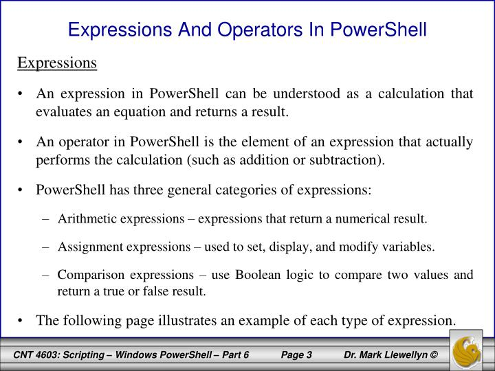 Expressions And Operators In PowerShell