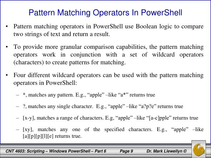 Pattern Matching Operators In PowerShell