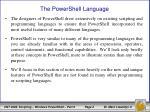 the powershell language