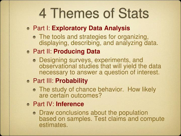 4 Themes of Stats