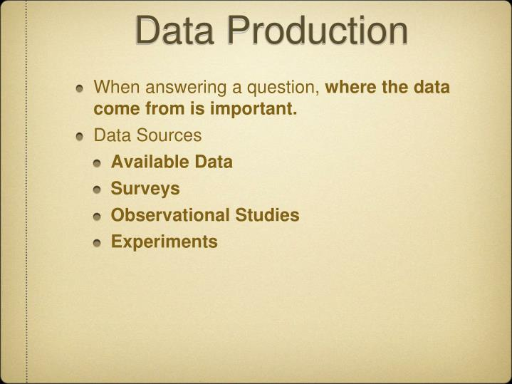 Data Production